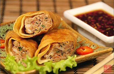 Китайские роллы с курицей
