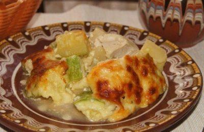 Курица с кабачком и картофелем