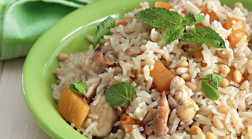 Рис с хурмой