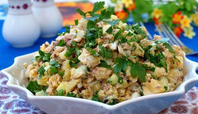 Салат из сардин