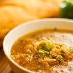 Суп из шпината, сельдерея и тыквы
