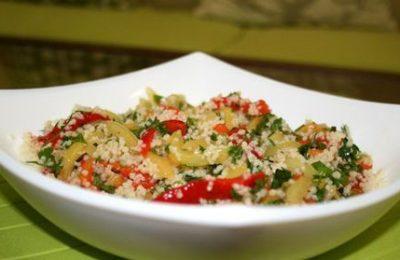 Салат с кус-кусом и овощами