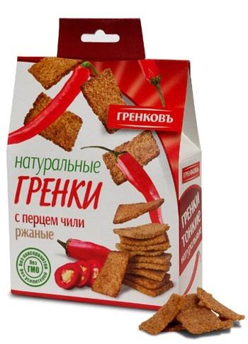 ржано-пшеничные сухарики с перцем чили