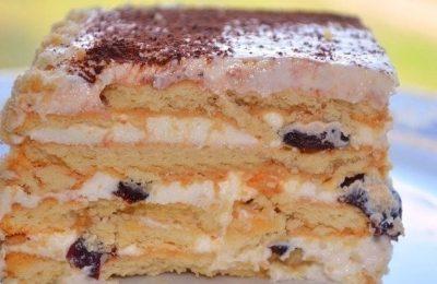 Торт из печенья, со сгущенкой
