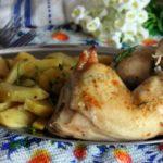 Курица, запеченная с картофелем в микроволновке