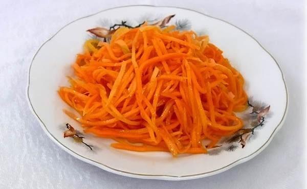 Приготовление острой моркови
