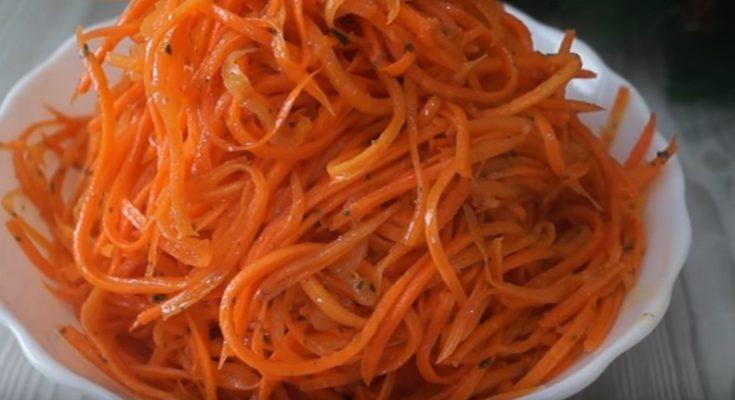 Приготовление салата из моркови