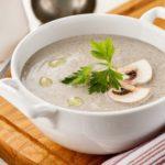 Диетический сливочный грибной суп-пюре