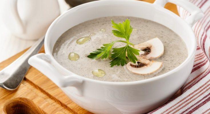 сливочный грибной суп-пюре