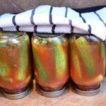 Консервированные хрустящие огурцы в томате без уксуса