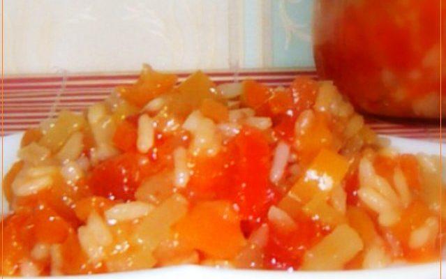 Овощной салат с рисом без уксуса