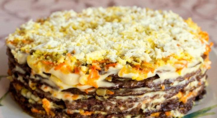 печёночный пирог рецепт
