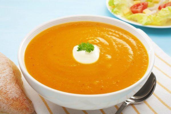 суп из тыквы в виде пюре
