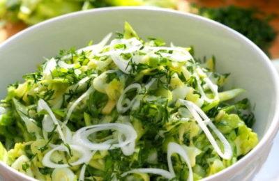 зеленый салат рецепт