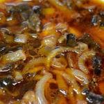 Грибная солянка с солеными кабачками