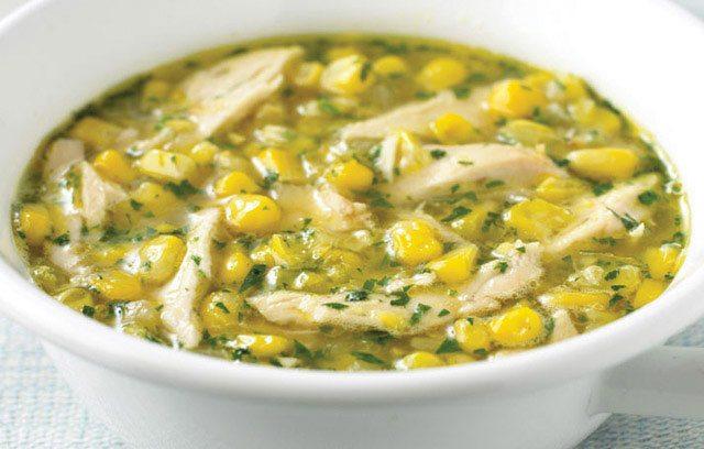 Суп с грибами и кукурузой